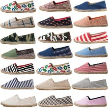 Spring fashion new canvas shoes men and women models straw lightweight sweat, wearable fisherman lazy