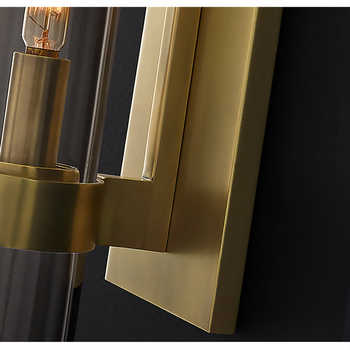 Nordic Luxurious Wall Lights Glass Shade Gold/Black Wall Lamps for Bedroom Bedside Living Room Restaurant Fixtures Led Sconces