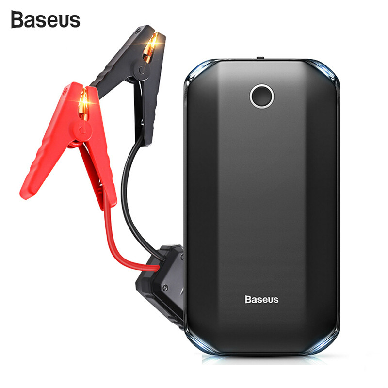 Baseus Power-Bank Launcher Jump-Starter Car-Starting-Device Car-Emergency-Booster Auto title=