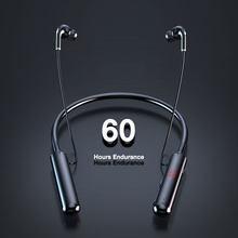 Eardeco power display led bluetooth fone de ouvido estéreo 60 horas resistência baixo sem fio fones neckband fone de ouvido tf cartão ímã