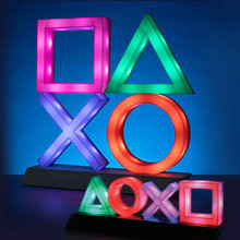 Playstation Sign Voice Control Game Icon Light Acrylic Atmosphere Neon With USB Cable For KTV Bar Living Room Bedroom Decoration