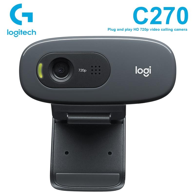 Logitech C270 HD Video 720P Webcam Gaming Auchor Live Broadcast Web Camera Built-in Micphone Network Video Camera For Windows