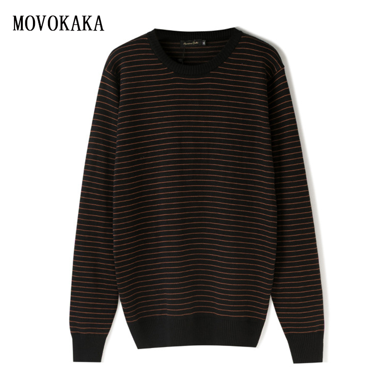 New Business Mens Sweater Knitted Sweater Men Striped Pullover Men Winter Sweater Male Plus Size Knit Sweater Man Loose Pull Men