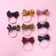 Bow-Headband Hair Flower Photo-Props Baby-Accessories Printed Infant Cute Gifts