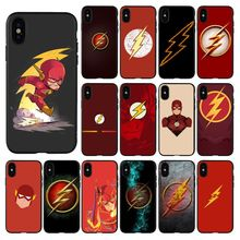 HTxian Super Hero The Flash Comics Logo Phone Cover for iPhone 11 pro XS MAX 8 7 6 6S Plus X 5 5S se 2020 XR case black cover darling in the franxx for iphone x xr xs max for iphone 8 7 6 6s plus 5s 5 se super bright glossy phone case
