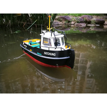 DIY Simulation remote control ship model kit for Tug804 tugboat rescue ship small scale and moped tugboat 1:18