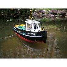 Diy Simulatie Afstandsbediening Schip Model Kit Voor Tug804 Sleepboot Rescue Schip Kleinschalige En Bromfiets Sleepboot 1:18