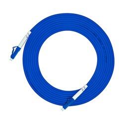 Внутренний бронированный 10 метров LC/PC-LC/PC, 3,0 мм, одномодовый 9/125, Simplex, LC/UPC Волоконно-оптический патч-корд, LC к LC