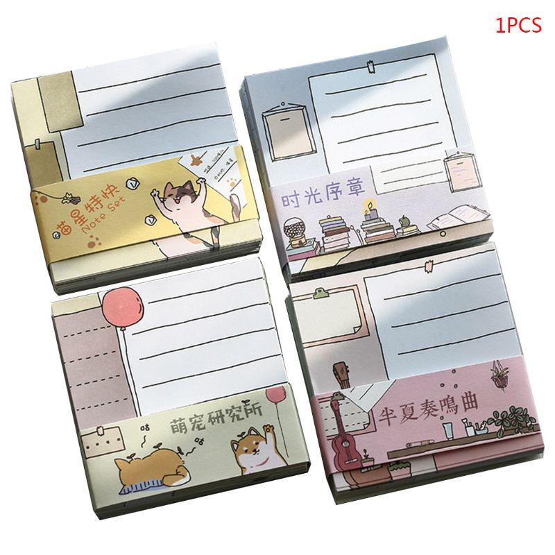 New Kawaii Memo Pad Bookmark Planner Paper Stickers Sticky Notes Stationery Notepad