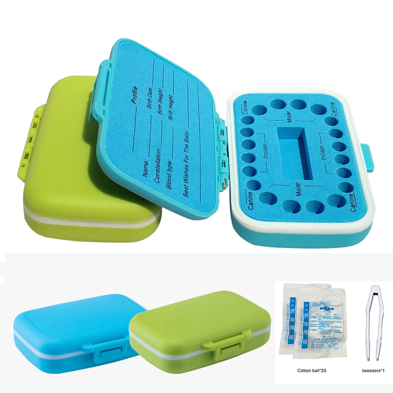 English Version Baby Tooth Box Organizer Newborn Hair And Teeth Storage Umbilical Cord Collect Teeth Umbilica Save Gifts