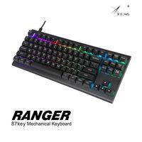 xbow x-bow Ranger Mechanical keyboard kit pcb 87 key 80%  rgb leds type c usb port with cnc case hot swappable