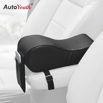 Couvertures automatiques universelles d'accoudoirs de mousse de mémoire de coussin d'accoudoir de voiture d'unité centrale d'autoyouth avec la poche de téléphone pour VW/BMW/AUDI/Honda