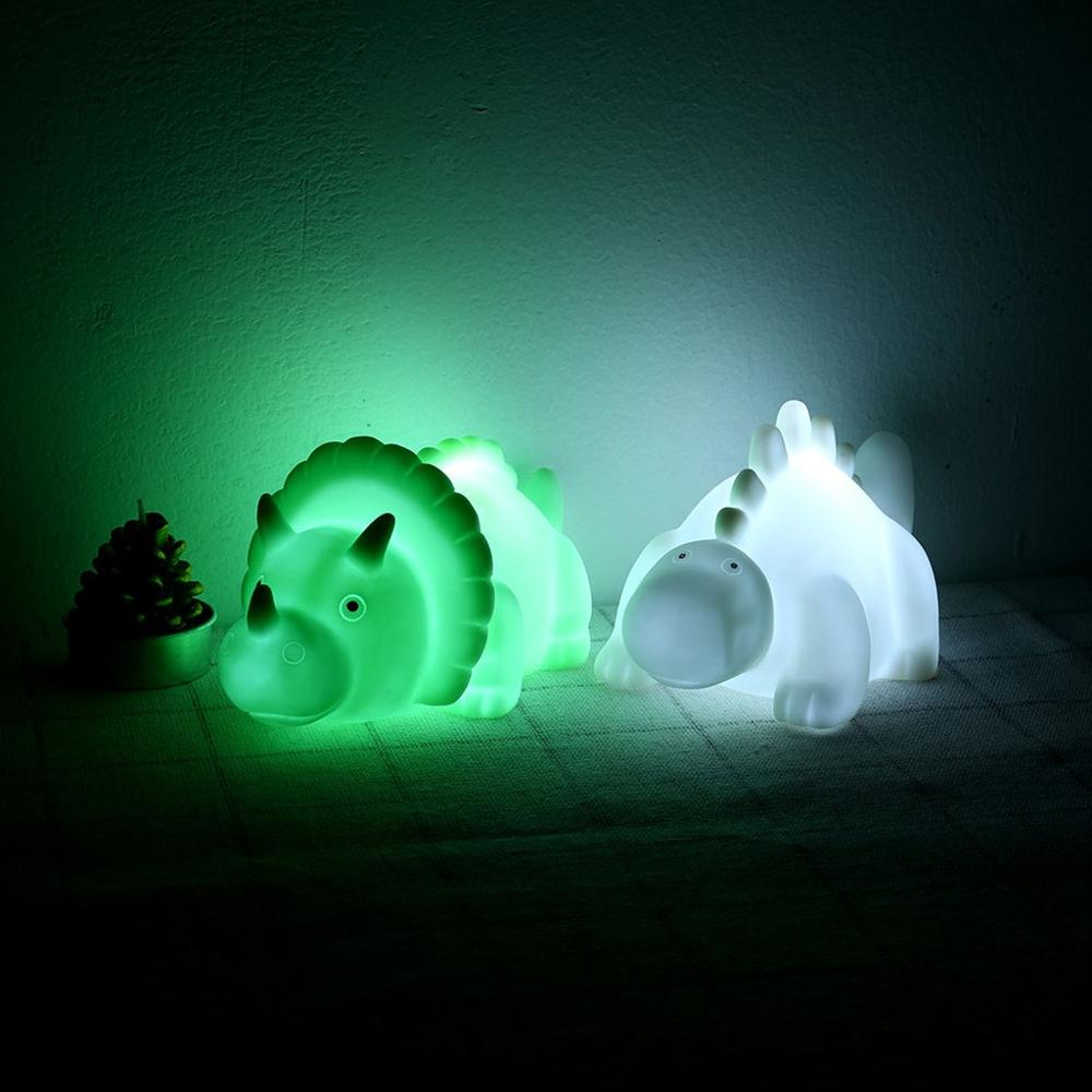 Cartoon LED Mini Dinosaur Lamp Kid Small Night Light Home Decorion Glow In The Dark Toys Hot Sale @A