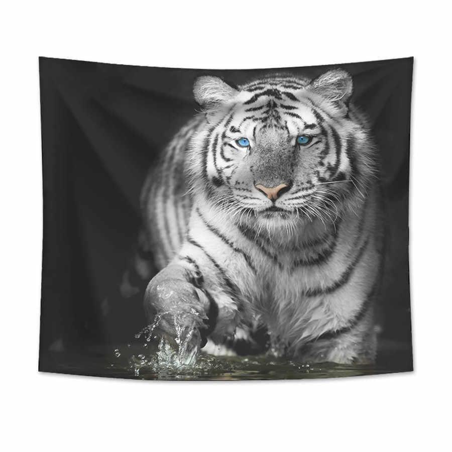 虎タペストリー壁掛け砂浜ピクニックラグキャンプテント睡眠パッド家の装飾ベッドカバーシート壁布