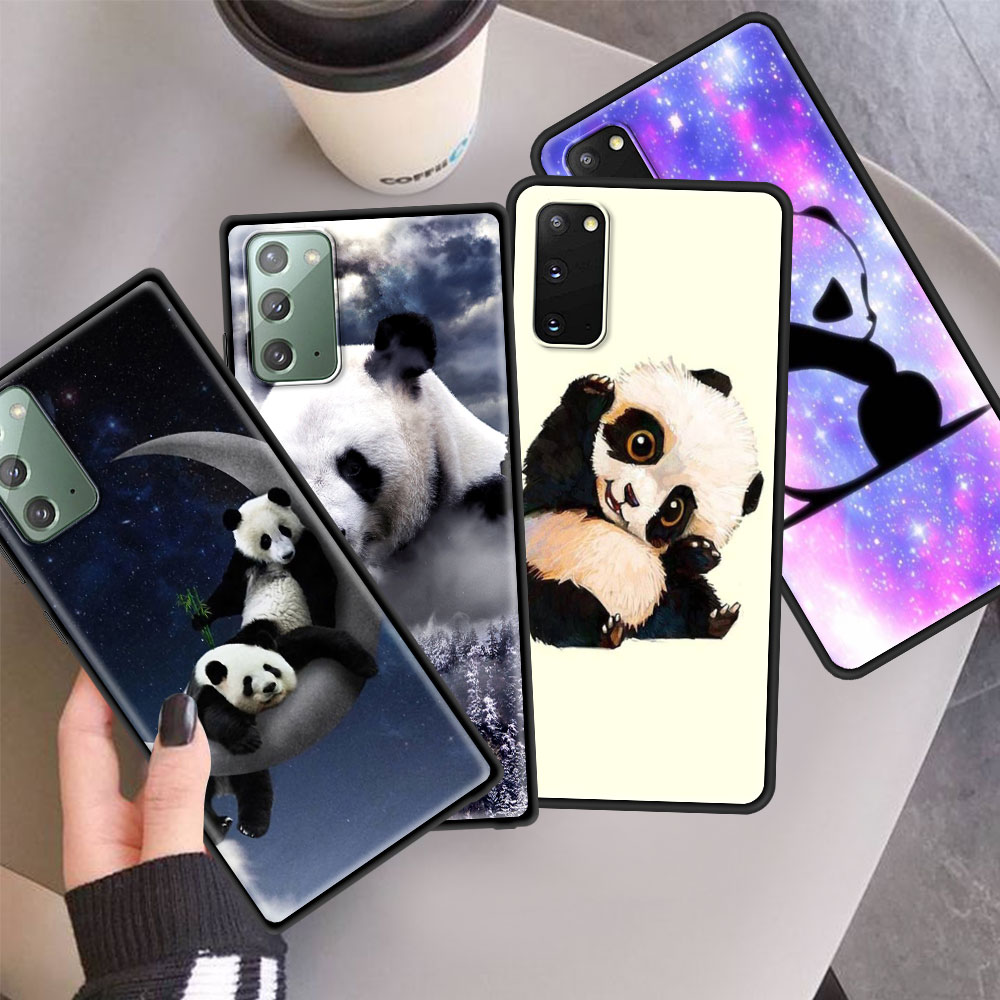 Case For Samsung Galaxy S20 FE S10 Plus S21 S9 S8 Note 10 Lite 20 9 Ultra Phone Cover Soft Shell Super Cute Panda Capa