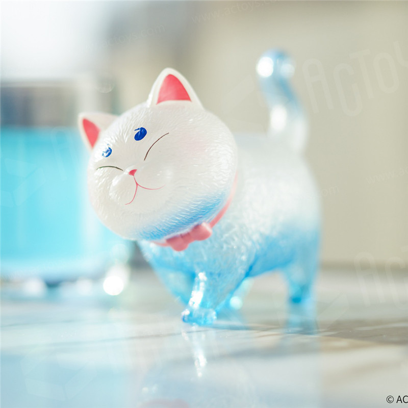Blind Box Genuine Swing Cat Bell Transparent Colorful Version Of Uncle Fujita Popular Cute Hand-made Trend Doll Gift Toy
