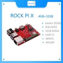 ROCK PI X B MODELB Win10 Intel Atom x5-Z8300 de 4G 32G eMMC flash MicroSD tarjeta