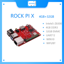 ROCK PI X B MODELB Win10 Intel Atom x5-Z8300 bord 4G 32G eMMC flash , MicroSD karte buchse