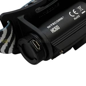 Image 5 - NITECORE HC60 HC60W USB Rechargeable Headlamp CREE XM L2 U2 1000 Lumens Camping Headlight + 3400mAh 18650 Battery Free Shipping