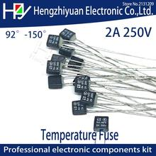 Black Square Fan Motor 2A 250V  Thermal fuse LED Fues 92 95 105 110 115 120 125 130 135 140 145 150 degree  Temperature Switches