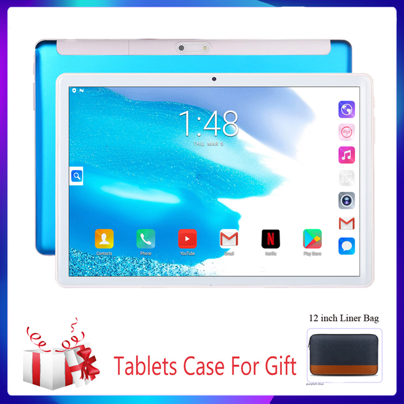 Support Google New 10.1 Inch Tablet Pc 2.5D Steel Screen Android Tablet 3G Phone Call 2GB+32GB Bluetooth 4.0 Wi-Fi Tablets Luxur