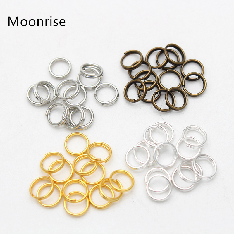 4//6//8//10mm Metal Open Jump Rings Split Rings Connectors For DIY Jewelry Making