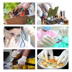Image 5 - Nieuwe 100 Pcs/50 Paar Witte Wegwerp Nitril Handschoenen Waterdicht Olie Proof Beschermende Handschoenen Huis Industrieel Gebruik