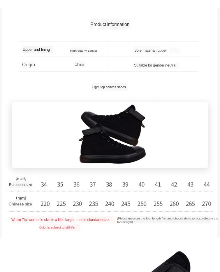 2020 New Juice Wrld Printed Black High Top Shoes