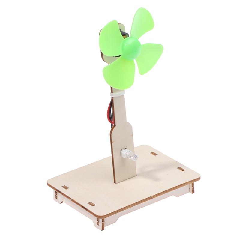 1Pc DIY niño tecnología Física Ciencia experimento intelectual Asamblea Fan juego mental y Educaition juguete