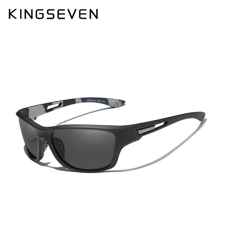 KINGSEVEN Ultralight Frame Polarized Sunglasses Men Fashion New Sports Style Square Sun Glasses Male Outdoor Travel UV Goggles 4