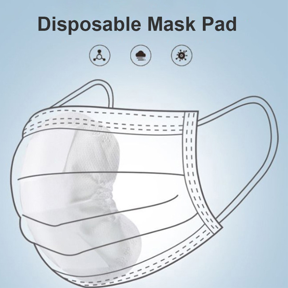 100pcs/Lot Mask Cotton Pads Filter Paper Anti Haze Mouth Mask Anti Dust Mask Activated Carbon Filter Paper Flter Out Dust