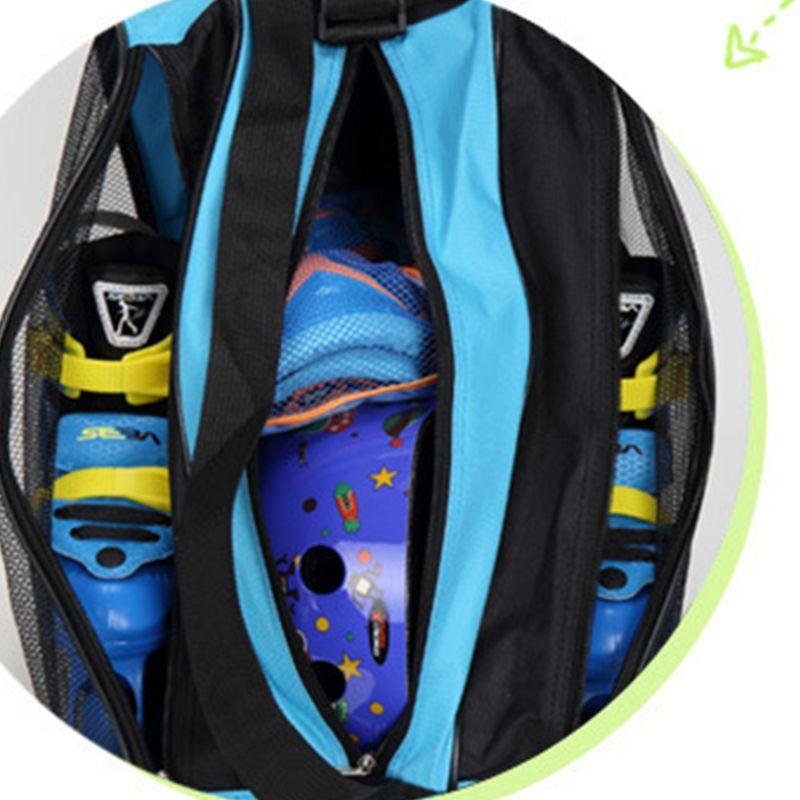 Ice Roller Blade Skate Skating Shoes Shoulder Strap Carry Bag Holder Case Three-Layer M7DC