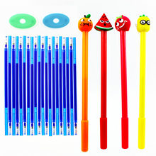 26Pcs/Set Fruits Erasable Gel Pen Refills Rod 0.5mm Blue Black Ink Washable Handle Magic for School Office Stationery