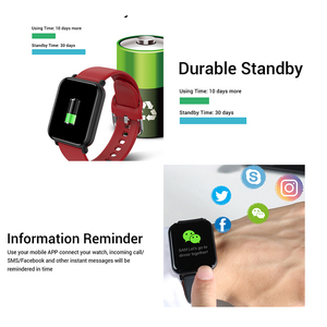 Image 5 - חכם שעון IP68 עמיד למים Smartwatch גברים ספורט קצב לב צג נשים כושר גשש שעון VS Pulseira B57 עבור אנדרואיד/ IOS