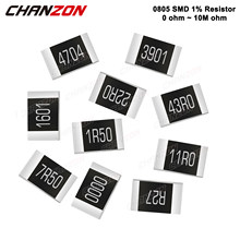 100Pcs SMD 0805 Resistors 0 - 10M Ohm 1/8 W Watt 1% High Precision Film Chip Fixed Resistance 1K 10K 4R7 4.7K 100K 2K2 220K 300K