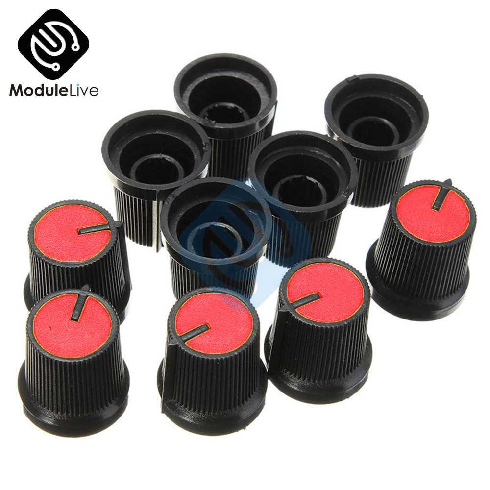 Plastic Knob Cap 6mm Shaft Hole Rotary Taper Control For Potentiometer