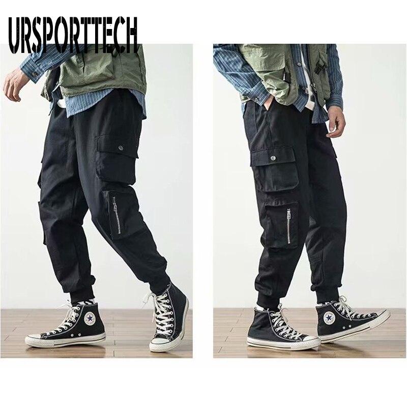2020 New Arrival Sport Hip Hop Joggers Men Cargo Pants Pockets Track Tactical Casual Techwear Male Trousers Sweatpant Streetwear