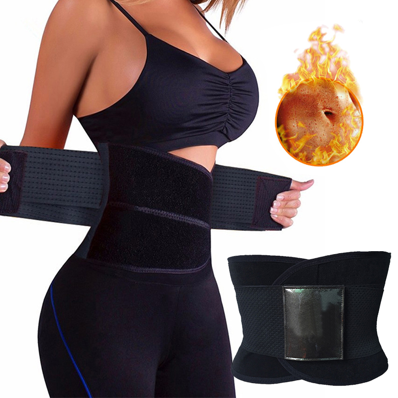 Sweat Belt Modeling Strap Waist Cincher Women Men Waist Trainer Fitness Belly Slimming Belt Sheath Sauna Shaperwear Tummy Corset