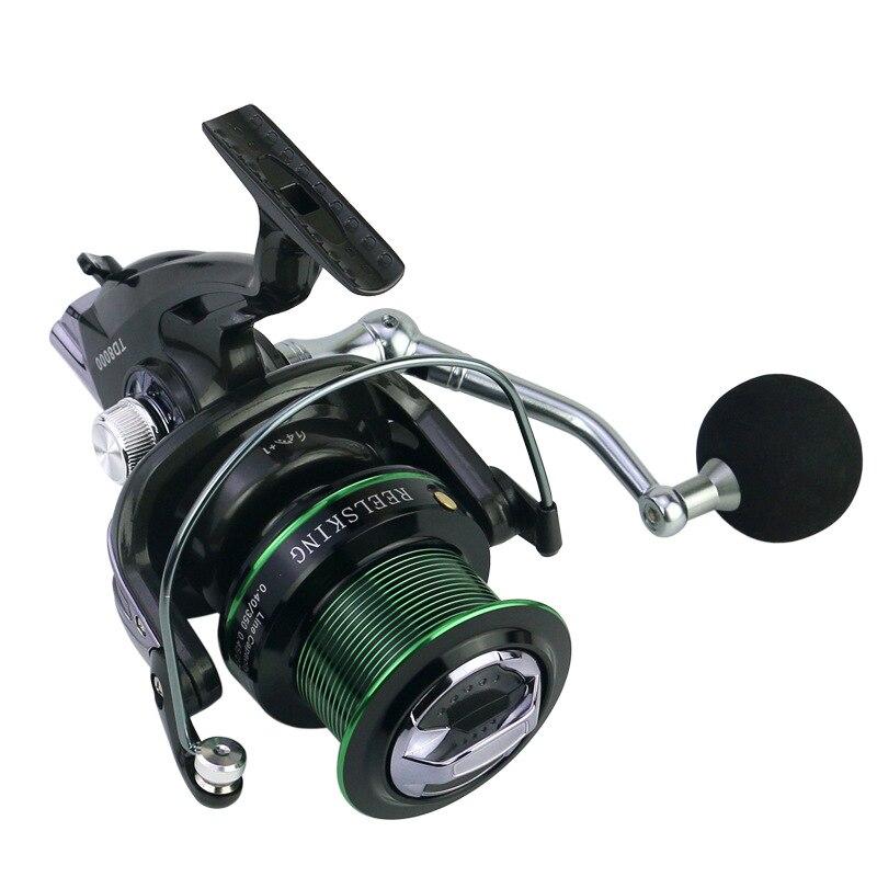 Long Shot Distance Wheel 12+1BB Metal Spool Carp Fishing Spinning Reel Big 8000 9000 Series CNC Rocker Arm Sea Feeder Reels Fishing Reels     - title=