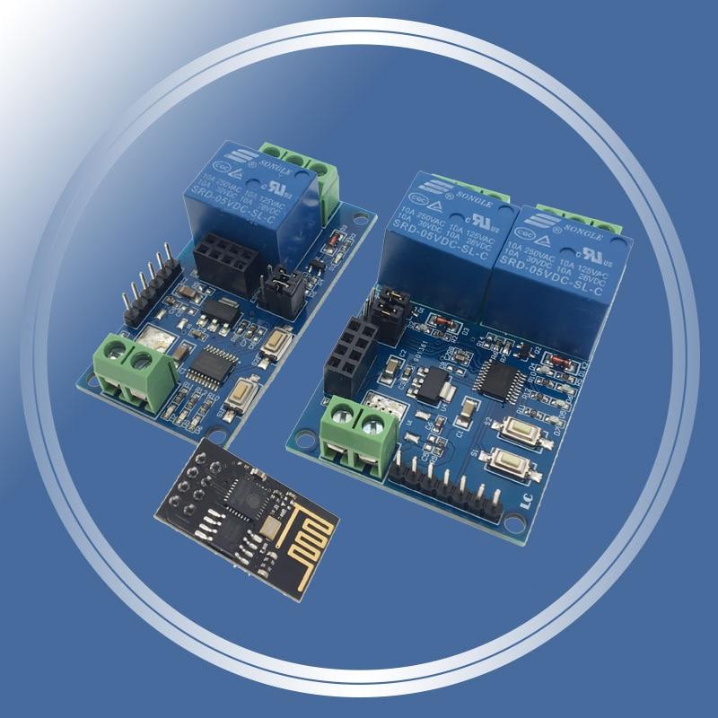 5V ESP8266 ESP-01 1 WiFi реле канала модуль ESP-01S 2 Way релейный модуль для IOT Smart Home дистанционное управление переключателем APP для телефона