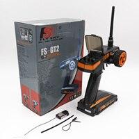 Flysky-transmisor FS-GT2 RC con receptor de FS-GT3C, modelo de Radio Digital de 2,4G para coche y barco de control remoto
