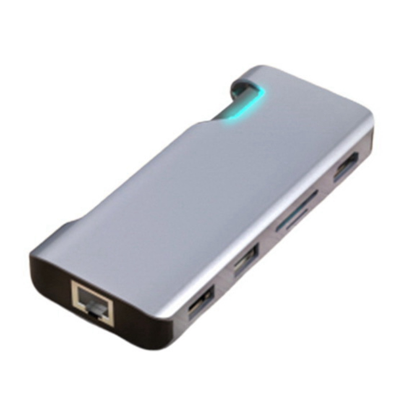 Type-C Docking Station HDMI-Compatible Gigabit Ethernet PD Cable RJ45 USB to HUB Converter for Macbookpro Accessories