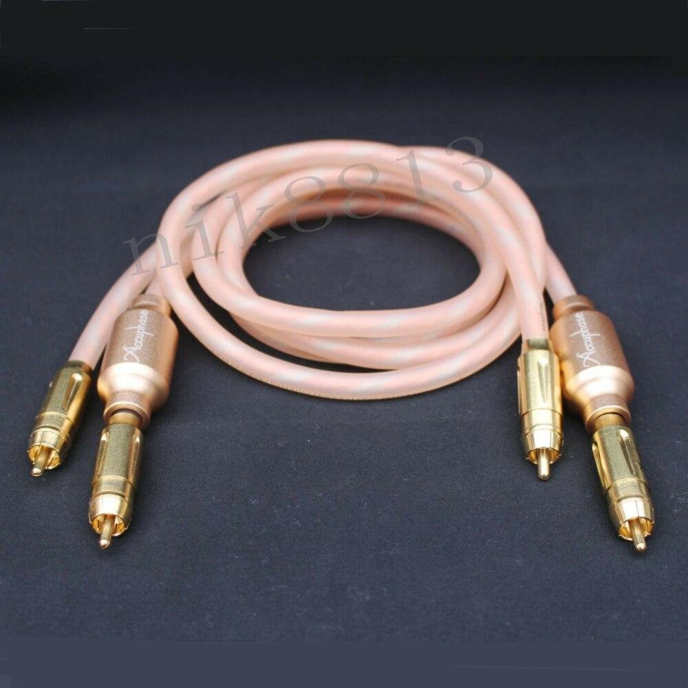 Une paire de câble Audio d'interconnexion double or Accuphase prise RCA produit hifi CD amplificateur ampli vinshele 1.0m / 1.5m