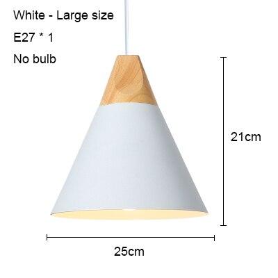 White 250mm no bulb