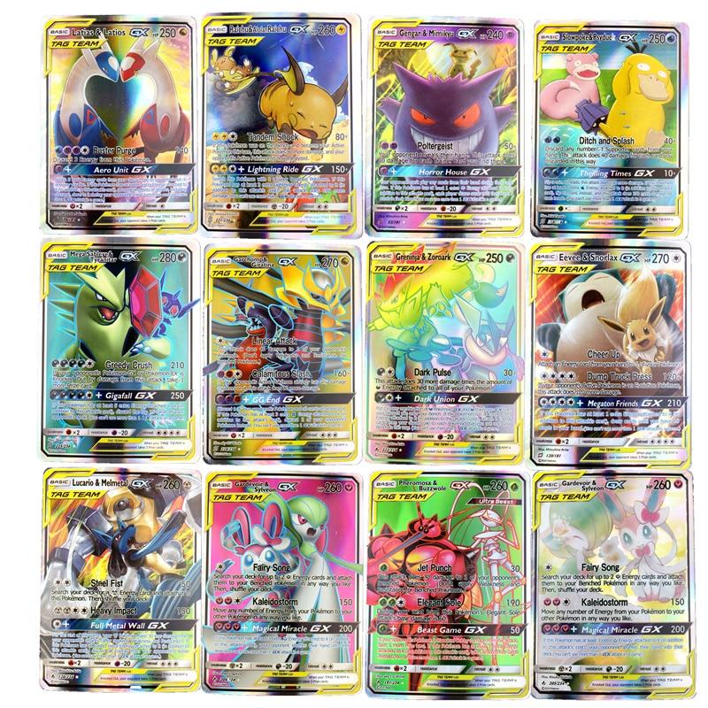 300 шт без повтора Покемон GX карты Сияющие карты Такара TOMY игры битва карт торговля детская Подарочная игрушка