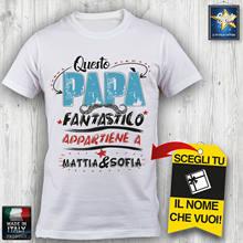 T camisa uomo papa personalizzata nome a tua scelta festa del papa ideia regalo
