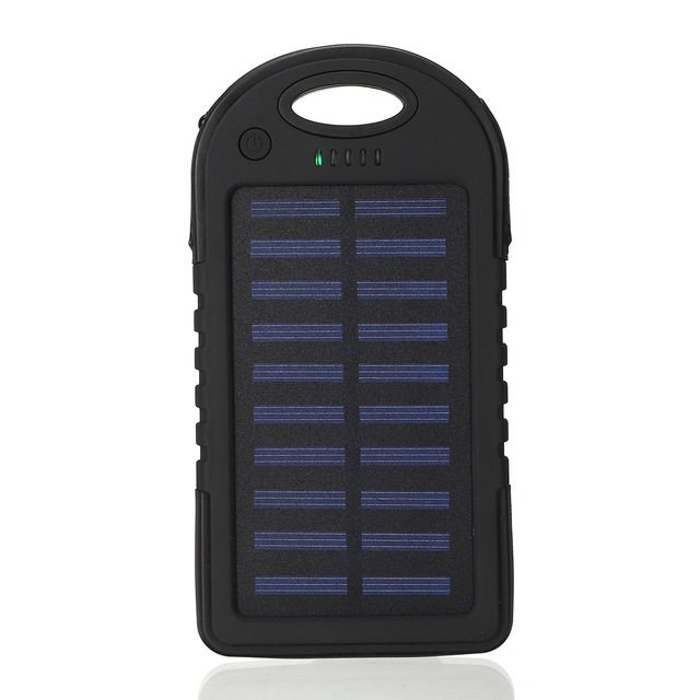 Portable 12000mAh Solar Power Bank for Charging iPhone/iPads/Android Phones/Cameras 7