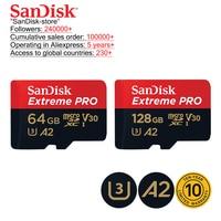 SanDisk orijinal TF mikro SD kart Extreme Pro hafıza kartı 32GB 64GB 128GB 256GB telefon kamera 4K Video 10 yıl garanti