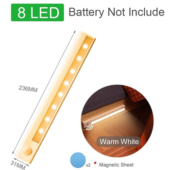 Motion Sensor Wireless LED Night Lights Bedroom Decor Light Detector Wall Decorative Lamp Staircase Closet Room Aisle Lighting 8