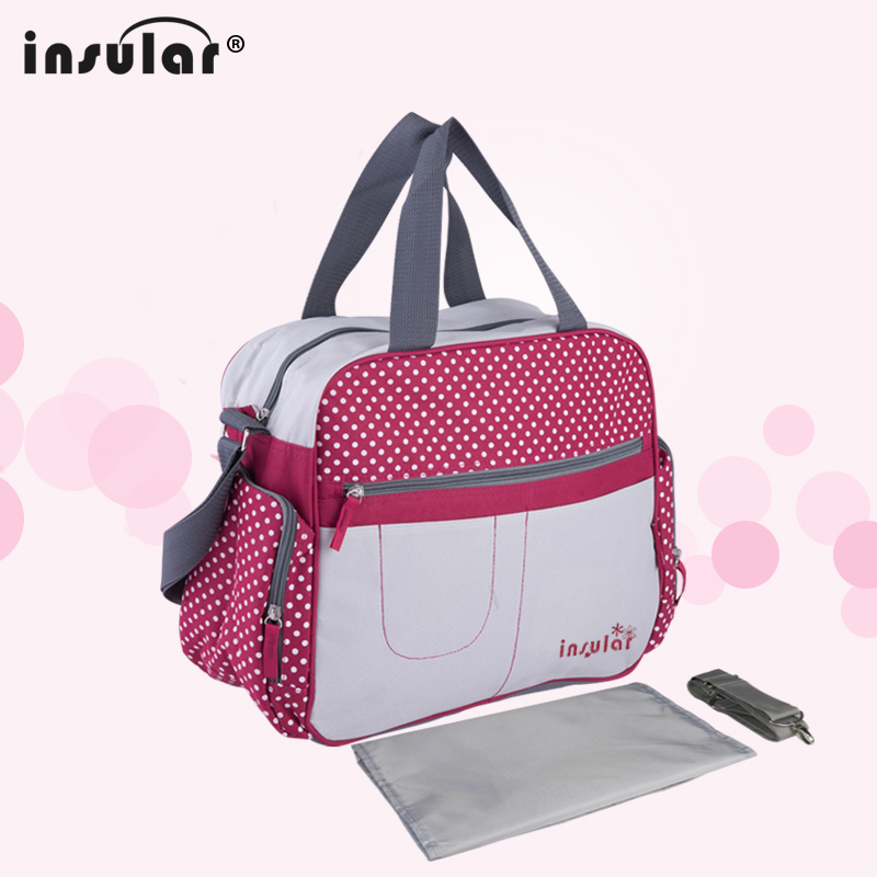 Fashion Baby Diaper Tote Messenger Bag Large Capacity Mummy Maternity Daddy Travel Nursing Shoulder Bag with Changing Mat